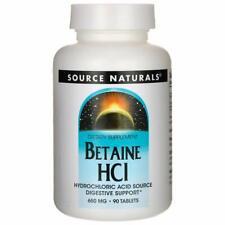 Source Naturals Bétaïne Hcl 650mg 90 Comprimés Digestif Enzymes Pyrosis