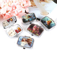 Portable Pocket Metal Pill Box Medicine Storage Container Holder Organizer Ca~QA