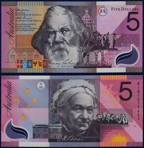 AUSTRALIA - P56a - 5 Dollars 2001 - POLYMER Federation Commemorative - Gem UNC