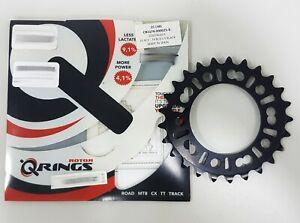 Rotor QRing MTB XC2 BCD 74mm x 5 Hole Chainring Black (25T ,27T, 28T)