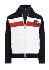 POLO RALPH LAUREN Mens Hybird Down Ski Jacket Sweater Sz L New 598$ Hi Tech