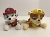 """Spin Master Paw Patrol Marshall And Rubble Pup Dog Plush Stuffed Animal Toy 6"""""""
