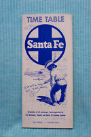 Santa Fe - Time Table - 1962 - Spring Summer Issue