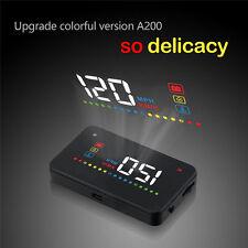 """Car HUD Head-Up Display OBD2 Car Dashboard Mounted Projector 3.5"""" Speed Warning"""