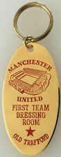 """Manchester United """"First Team Dressing Room"""" Key Ring - Gold Plated"""