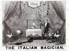 BOLLINI ITALIAN MAGICIAN 1879 MAGIC FILES VINTAGE ADVERTISING POSTER PRINT 500PY