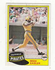 1981 TOPPS BASEBALL #92 MIKE EASLER PITTSBURGH PIRATES - NM/MT