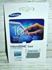 Brand New Samsung MB-MS16D MicroSDHC 16GB Class 6 Memory Card with SD Adapter