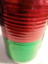 Curling Ribbon - 50 Ft. of Each Color - Red & Green Same Spool Hollywood Ribbon!