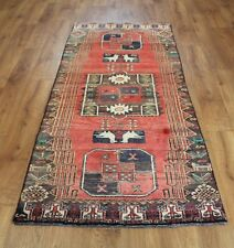 Traditional Vintage Wool Handmade Classic Oriental Area Rug Carpet 200 X 83 cm