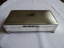 Vintage Silver Plated EPNS Aristocrat Cigar Cigarette Box Wood Liner 5 x 16.5 cm