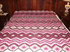 NEW AFGHAN ~ Handmade Handcrafted Crochet Throw Blanket Afghan ~ Unusual ~ Gift
