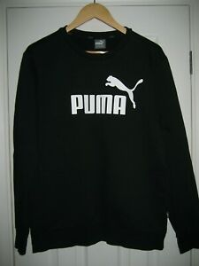PUMA BLACK SWEATSHIRT JUMPER TOP SIZE MEDIUM