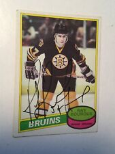 Ray Bourque Ex condition opc Rookie Card Signed with COA