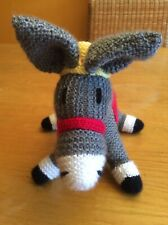 HAND KNITTED RETIRED DONKEY FROM THE SANCTUARY...NEEDS NEW HOME