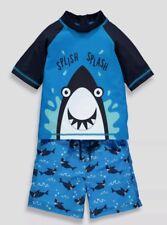 Boy Shark Swimsuit Surf Swimming Costume Kids Swimwear Tops Trunks Sunsafe 2 - 3