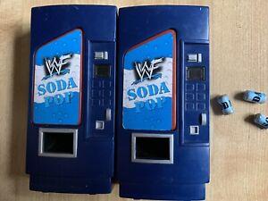 WWE accessories X 2 vending machines soda pop for wrestling figures wwf/wcw/ecw