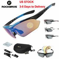 ROCKBROS Polarized Cycling Sunglasses Bike Goggles UV400 Eyewear Sport Glasses