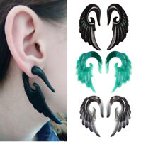 2Pcs Hot Gauge Punk Acrylic Angel Wing Spiral Taper Ear Plugs Expander Stretcher