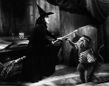 WIZARD OF OZ THE WICKED  WITCH OF THE WEST GOES AFTER DOROTHY black & white 8X10