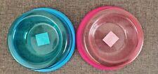 Plastic Transparent Pet Food Water Bowl (Colours Available)