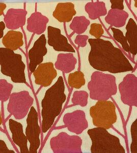"West Elm Cayenne Crewel Blossom  Pillow Cover 20"" Pink Orange NWOT"