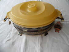 Art Deco Lewbury EPNS silver cradle Agee Pyrex Primary Yellow serving dish NEW