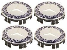 For Mercedes C117 X117 W203 S203 CL203 Set of 4 Royal Blue Wheel Caps Genuine