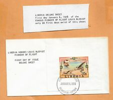 FIRST FLIGHT  LIBERIA HONORS LOUIS BLERIOT JAN 6,1978 1 OF ONLY 20 ISSUED