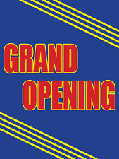 "Grand Opening Retail Display Sign, 18""w x 24""h, Full Color"