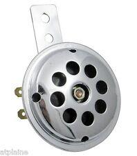 KLAXON 12V UNIVERSEL REGLABLE CHROME 1.0A 100 dB DIAMETRE 70 mm