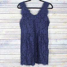 Joie Rori Lace Dress Navy Blue Sleeveless Cocktail Party L18-30469 Size Medium