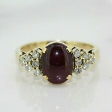 18ct Yellow Gold Amethyst and Diamond Cluster Ring (Size O, US 7 1/4)