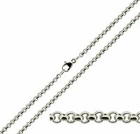 "925 Solid Sterling Silver 20 22 24 26 28 30"" Inch 2.4mm Belcher Chain Necklace"
