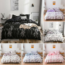 Marble Pattern Printed Duvet Quilt Cover&Pillowcase Modern Bedding Sets Size