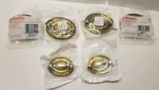 Lot of 6 Belwith Gold / Metal Dresser Drawer Handles - Brand New