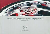 3267MB Mercedes Leichtmetallräder Prospekt 2005 9/05 Vorgängermodelle brochure