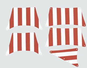 Segel Set  Schiff 6285 10040 Black Seas Barracuda Rot Weiß kompatibel mit LEGO