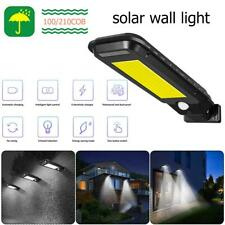 210 COB LED Solar Street Light Waterproof Motion Sensor Outdoor Path Wall Lamp