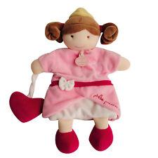 Doudou  et Compagnie poupée brune Marionnette conte jolie princesse rose coeur