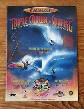 Rare 1993 TRIPLE CROWN of SURFING Program XLNT MINT