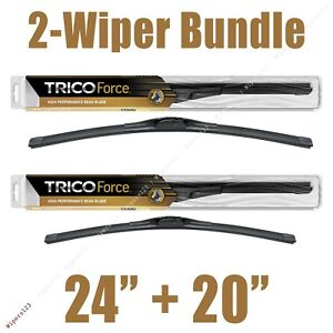 """2-Wipers: 24"""" + 20"""" Trico Force All-Season Beam Wiper Blades - 25-240 25-200"""