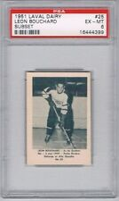 1952 Laval Dairy Subset Hockey Card Quebec Aces #25 Leon Bouchard Graded PSA 6