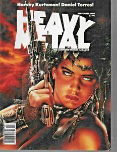 "vintage 1990 "" HEAVY METAL ILLUSTRATED FANTASY MAGAZINE"" vol 14 - # 4 ; Sept"