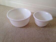 (2) Vintage Hamilton Beach Milk Glass Stand Mixer Bowls, #8 & #12