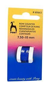 PONY KNITTING CROCHET  ROW COUNTER STITCH TALLY 7.5-10MM