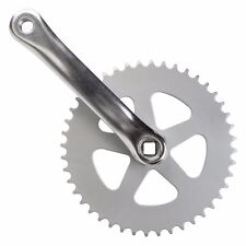 Sunlite Crankset Alloy Single speed-44x170 3/32SL Steel RING Silver fixie track