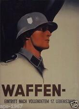 German WW2 Wehrmacht Waffen SS Officer Poster
