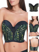 Freya Pin Up 5093 Underwired Padded Push Up Strapless Bustier Corset Basque