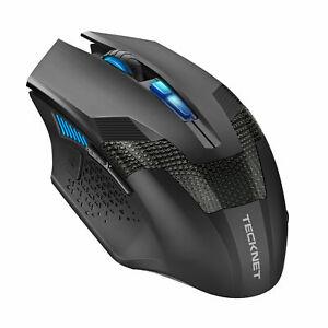 Tecknet RAPTOR Optical Adjustable 4000 DPI Wireless Gaming Mouse Black WM289
